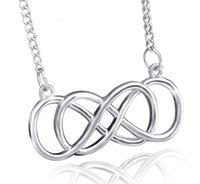 Wholesale Autumn Pendants - Autumn and winter fashion necklace dual 8-word necklace female  2016 new European and American popular jewelry alloy new
