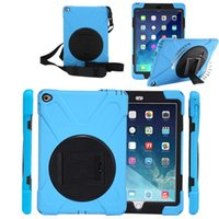 Wholesale Mini Silicone Stand Holder - For iPad 2 Silicone defender Case Cover With stand holder For for iPad air 2 3 4 5 6 mini 1 2 3 air air2 Heavy Dust Shock Proof Covers