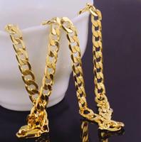 ingrosso collana della catena dell'oro nero spessa-Solid 14k giallo catena d-oro Mens regalo di San Valentino compleanno prezioso oro vero al 100%, non è solido non soldi.