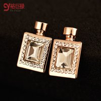 Wholesale Tin Perfume - 2016 new design brand stud earrings for women fashion Luxury high-grade Perfume contracted earrings with 18K gold plated ER00451