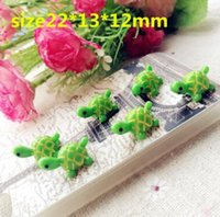 Wholesale 12 Animals Figurines - artificial cute green tortoise animals fairy garden miniatures mini gnomes moss terrariums resin crafts figurines for garden decoration