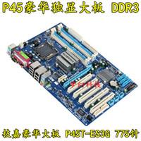 Wholesale 775 Ddr3 - Free shipping 100% original motherboard for Gigabyte GA-P45T-ES3G LGA 775 DDR3 RAM 16G Desktop mainborad