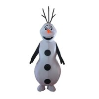 Mascot Costumes stage market - Factory Outlets Frozen Snowman Cartoon Mascot Costume Market Activity Suit Stage Performance Suit
