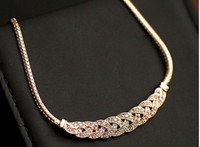 ingrosso bomba da diamante-Fashion European Star WeaveTwist Womens jewelryDiamond Dress Collar Crystal Diamond Collana a catena Bib Dichiarazione per le signore Choker Natale
