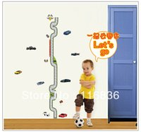 Wholesale Children Height Measurement Sticker - Free Shipping wholesale car racetrack height measurement Wall Stickers Decal for kids  children room Decoration nursery sticker