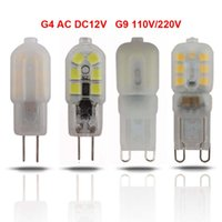 Wholesale G4 Led For 12v Ac - DHL Free Ship New Arrival PVC LED G4 G9 Lamp, 2W 3W DC AC 12V 220V 110V G4 G9 LED Bulb Replace for Halogen Spotlight Chandelier Corn Bulb
