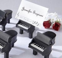 "Wholesale Piano Grand - Black piano place card holders Music theme favor ""Ain't Love Grand?"" wedding in event & party supplies"