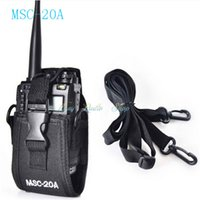 Wholesale Kenwood Case - MSC-20A case Holder Pouch Bag For walkie talkie Kenwood BaoFeng UV-5R UV-5RA UV-5RB UV-5RC UV-B5 UV-B6 BF-888S Radio Case Holder