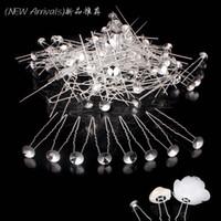 alfinetes de jóias em branco venda por atacado-100 pçslote branco banhado a prata de metal cabelo em branco para DIY mulheres Weding cabelo jóias frete grátis