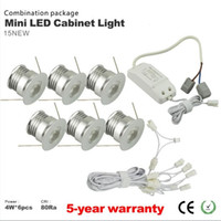 Wholesale Dimmable Led Cabinet Lights - Free shipping 6pcs lot dimmable 4w mini led down light led lamp cabinet lamp led ceiling recessed grid downlight
