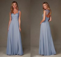 Wholesale Sexy Glamours Dresses - 2016 Glamours New Long Chiffon Summer Long Bridesmaid Dress Sweetheart Sheer Cap Sleeves Lace Beaded Sexy Back Formal Wedding Party Dresses
