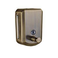 ingrosso portaoggetti antichi-Dispenser di sapone per bagno in ottone anticato per parete con porta sapone liquido 800 ML