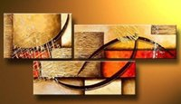 Wholesale 3pcs oil painting - Hand-painted canvas art Modern abstract wall graceful artwork picture oil painting 3pcs set Home decoration pictures