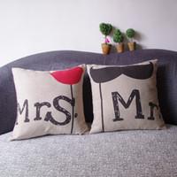 ingrosso cinesi cuscini di seta ricamati-Cuscino lombare Cuscino per divano in cotone ibrido Cuscino per divano in cotone