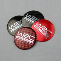 Wholesale Rally Sticker - 4PCS 56MM Aluminium WRC Wheel Hub Center Cap Sticker Universal Fit Worldwide Rally Championship Accessory