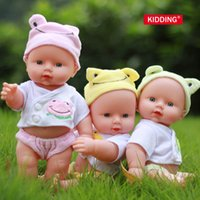 Wholesale Lifelike Dolls China - 30cm vinyl Reborn Baby Doll Soft Silicone Lifelike Newborn Baby dolls for Girl Gift