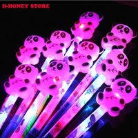 Wholesale Toy Colorful Led Light Sticks - Colorful 36cm glowing led sticks toy night flashing cute panda rabbit led sticks rods kids light up toys party decoration