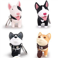 Wholesale Leather Toy Animals - YIYUAN Puppy Keychain Dog Keyring Dog Toy Lover Key Chain Rings for Handbag Support Mixed Batch Free Shipping