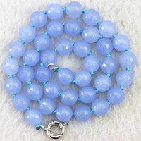 """Wholesale Round Faceted Aquamarine Beads - New aquamarine jasper stone 10mm faceted round beads pop making jewelry necklace 18"""" B1014"""