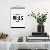 Wholesale Large Inspirational Wall Quotes - Modern Minimalist Hipster Living Room Wall Art Black White Inspirational Typography Quotes A4 Large Poster Print Canvas Painting