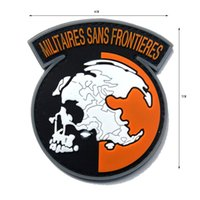 50 PCS ПВХ Metal Gear Solid MGS Peace Walker Militaires SANS FRONTIERES Patch Резина 3D ПВХ Мораль Tactical Army Знак Оптовая свободный корабль
