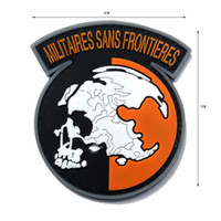 Wholesale Metal Badge Printing - 50 PCS PVC Metal Gear Solid MGS Peace Walker MILITAIRES SANS FRONTIERES Patch Rubber 3D PVC Morale Tactical Army Badge Wholesale free ship