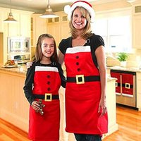 Wholesale Cooking Ornament - Adults Size Cooking Apron Kitchen Cooking Tools Set Hot Selling Sleeveless Cloth retro apron Creative Christmas Aprons for Women