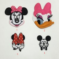 Wholesale Iron Order - 12 pcs Mickey Mouse Minnie Mouse nice Daisy duck iron on transfers patches birthday gift for hat clothing mix order