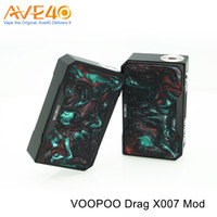 Wholesale Frames Fire - Authentic VOOPOO DRAG TC Box Mod 157W Resin Black Frame Fastest Fire Speed Powered by Dual 18650 Batteries VS Smok Qbox PD270