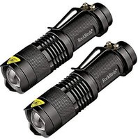 Wholesale best work flashlight resale online - 2017 Rockbirds LED Flashlight A100 Mini Super Bright Mode Tactical Flashlight Best Tools for Hiking Hunting Fishing and Camping