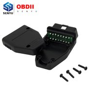 Wholesale Obd J1962 - Wholesale-New 2016 Low Price Wholesale 16Pin OBD2 Connector OBDii 16 pin adaptor OBD II Male Plug J1962 Connector 10 Pcs Lot