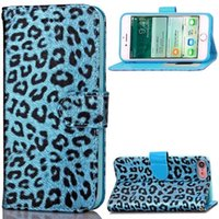 Wholesale iphone flip leopard for sale - Luxury Leopard Flip Wallet Leather Pouch Case For Iphone X XS Plus I7 Iphone7 plus S Photo Frame ID Card Stand Cell Phone Skin Cover