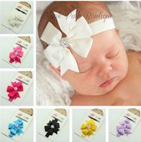 Wholesale Diamond Hair Sticks - European and American children's hair ornaments handmade fishtail hair bow with crystal diamond jewelry trade the lead with a supply HD