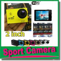 Wholesale Digital Video Camera Camcorder Waterproof - Action camera 30M Waterproof Sports Camera SJ7000 WiFi 1080P HD 2 inch 140 Wide Angle Action Helmet Mini DV Digital Video Camcorders JBD-N2