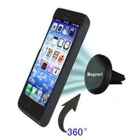 Wholesale Airframe Mount - Wholesale-Strong Magnetic Car Air Vent Mount Airframe Phone Holder for iPhone4 4S 5 5S 5C 6 6S,Samsung S3 S4 S5 Note2 Note3,HTC,MIUI etc
