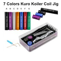 Wholesale coil jig new for sale - Group buy Qualtiy New Kuro Koiler Coil Jig DIY Tool Magic stick CW Box Kit Coiler RDA RBA Builder Heating Wire Coiling Machine of Electronic Cigarette