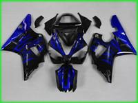 kit carenado yzf r1 llama al por mayor-Kit Moto Fairing para YAMAHA YZFR1 00 01 Moldeo por inyección YZF R1 2000 2001 YZF1000 yzfr1 Juego de calados Blue Flames