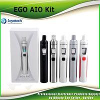 Wholesale Ego Mega - Original Joyetech EGO Aio Kit 1500mAh Quick Start Kit All in One Starter Kit with Colorful LED vs 100% Genuine kanger subvod mega 2220026