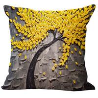 ingrosso coperture del cuscino posteriore del sofà-Fodera per cuscino in lino con motivi floreali in cotone e cotone
