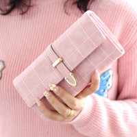 Wholesale Drawstring Coin Purse - Latest Female Drawstring Wallet Leather Long Women Wallet Change Clasp Purse Money Coin Card Holders Wallets Clutch Purse