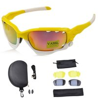5pcs New Arrival Brand Óculos de sol Men Women Cycling Yellow / White Frame Lens Sports Sun Glasses with Box