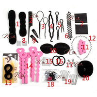Wholesale Twist Braids Bun - High Quality Hair Styling Tools Sets Magic Hair Bun Clip Maker Hairpins Roller Kit Braid Twist Set Sponge Styling Accessories