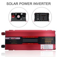 Wholesale Solar 12v Ac Converter - DHL 2000W 12V 24V to AC 220V 110V Aluminum Alloy Case Solar Power Car Inverter Vehicle Inverter with LCD Display Converter CEC_62K