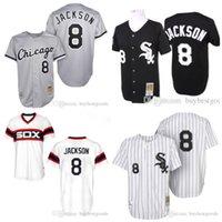 Wholesale Mitchell Ness Throwbacks - Men's #8 Mitchell And Ness Throwback Bo Jackson Jersey Chicago White Sox Baseball Jerseys Stitched Size S-4XL