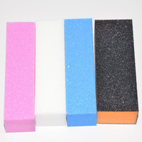 Wholesale Sponge Buffer Sanding Block - Wholesale-4pcs Professional Nail File Buffer Nail Files For Manicure Tools Shape Nails Buffing Block Sand Sponge Nail Art Tips Sanding