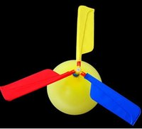 Wholesale Balloon Filler - 2000pcs Free EMS HOT Balloon Traditional Classic Balloon Helicopter Kids Party Bag Filler Flying Toy Flying Balloon Child Event