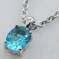 Wholesale Aquamarine Pendants Sterling Silver - Wholesale-Aquamarine 925 Sterling Silver Stud Pendant PP05 This item Min order is $10