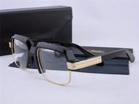Wholesale Eyeglass Cases Black - new vintage eyeglass Germany designer CZ670 steampunk style men brand deisnger eyeglasses with original case semi-rimless