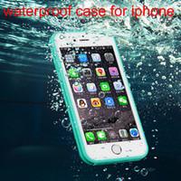 pantalla táctil a prueba de agua al por mayor-2016 Nuevo cuerpo completo de la pantalla táctil del resbalón de la caja a prueba de agua para el iphone 5 5s 6 6 s 6 plus EXTREMO Agua / Gota / Suciedad / Choque a prueba casos envío de la gota