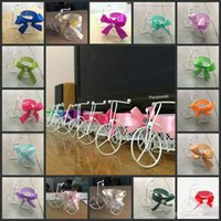 Wholesale Baby Pram Favor Boxes - New Baby Shower Candy Boxes Metal Pram baby carriage Shaped Box with Laces Gauze Wedding Favor Box Exclusive Cute Gift Boxes